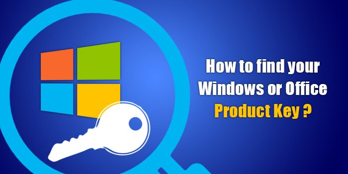 How to find your Windows or Office product key
