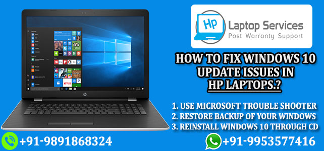 Fix Windows 10 Update Issues in Hp Laptops